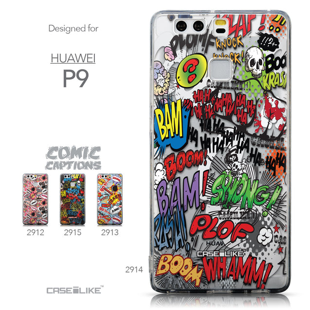 Collection - CASEiLIKE Huawei P9 back cover Comic Captions 2914