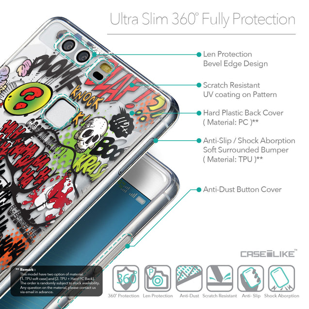Details in English - CASEiLIKE Huawei P9 back cover Comic Captions 2914