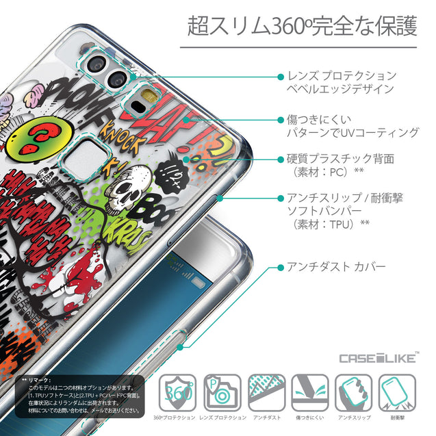 Details in Japanese - CASEiLIKE Huawei P9 back cover Comic Captions 2914