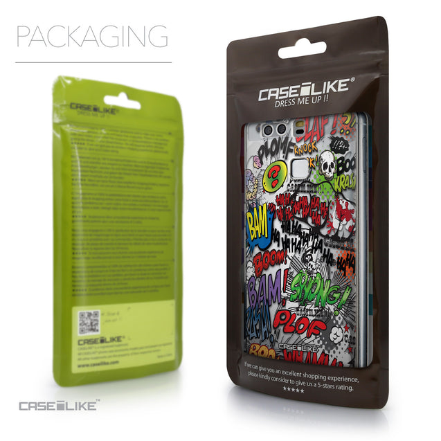 Packaging - CASEiLIKE Huawei P9 back cover Comic Captions 2914