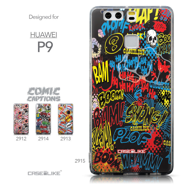 Collection - CASEiLIKE Huawei P9 back cover Comic Captions Black 2915