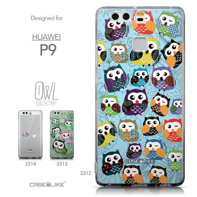 Collection - CASEiLIKE Huawei P9 back cover Owl Graphic Design 3312