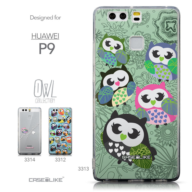 Collection - CASEiLIKE Huawei P9 back cover Owl Graphic Design 3313