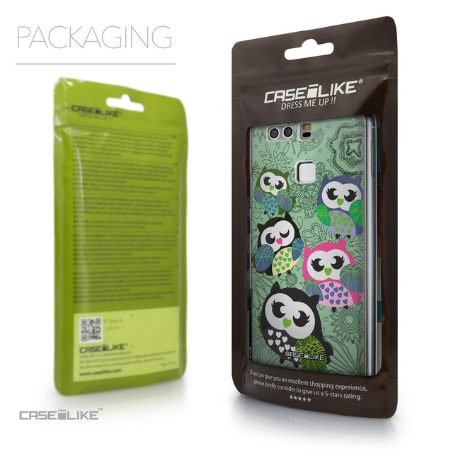 Packaging - CASEiLIKE Huawei P9 back cover Owl Graphic Design 3313