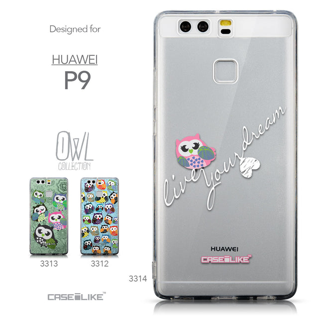 Collection - CASEiLIKE Huawei P9 back cover Owl Graphic Design 3314