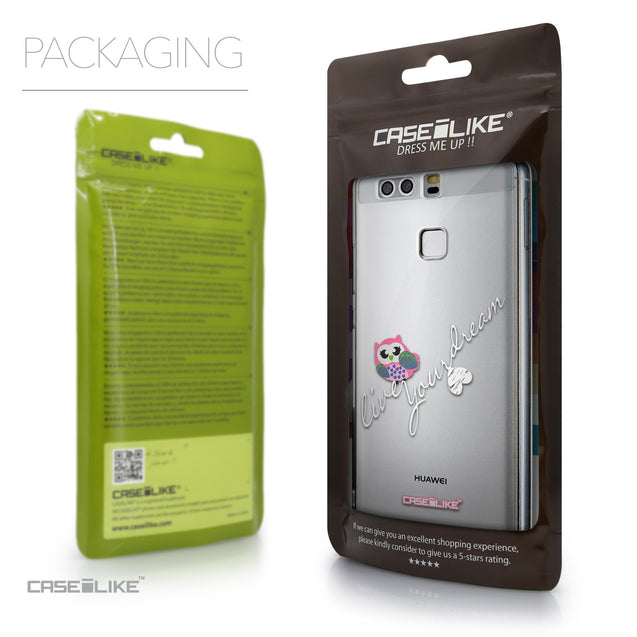 Packaging - CASEiLIKE Huawei P9 back cover Owl Graphic Design 3314