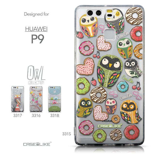 Collection - CASEiLIKE Huawei P9 back cover Owl Graphic Design 3315