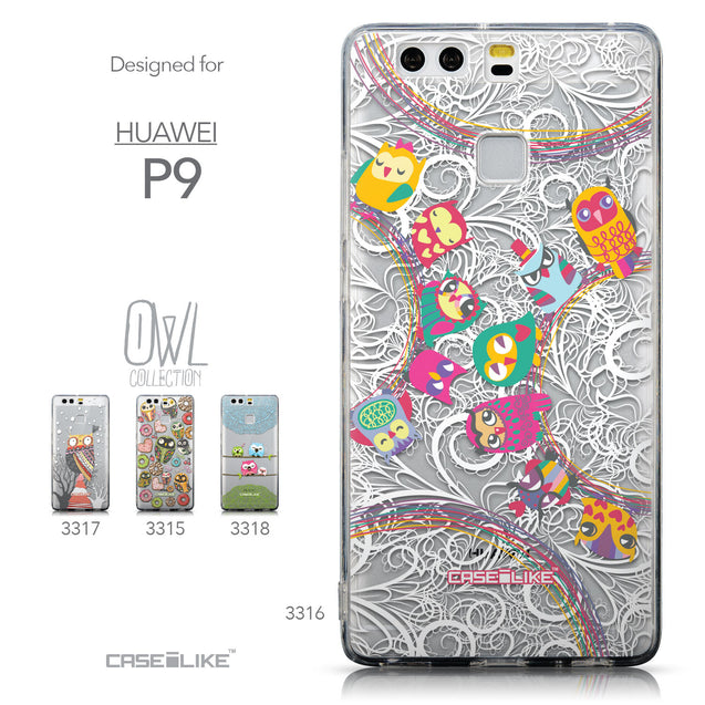 Collection - CASEiLIKE Huawei P9 back cover Owl Graphic Design 3316