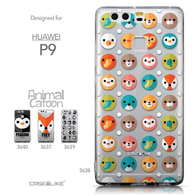 Collection - CASEiLIKE Huawei P9 back cover Animal Cartoon 3638