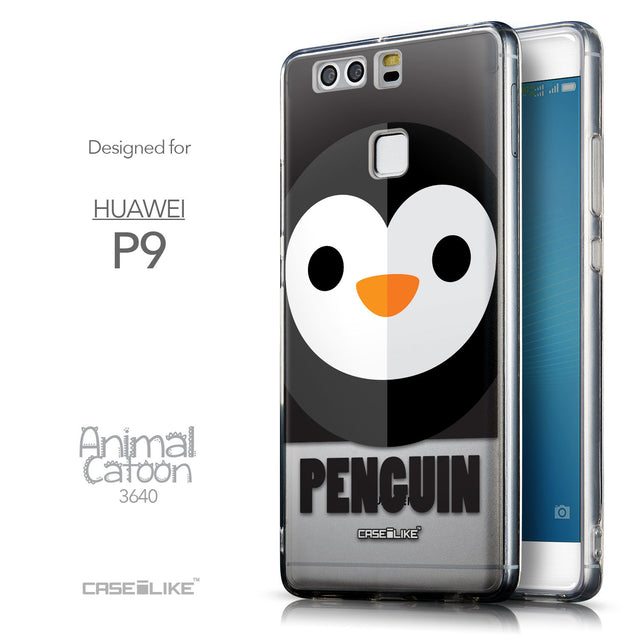 Front & Side View - CASEiLIKE Huawei P9 back cover Animal Cartoon 3640