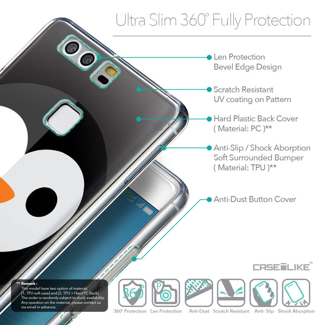 Details in English - CASEiLIKE Huawei P9 back cover Animal Cartoon 3640