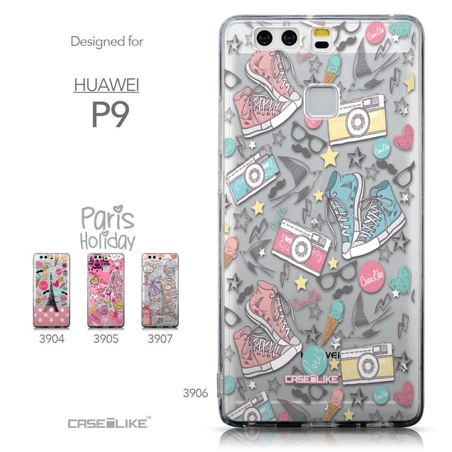 Collection - CASEiLIKE Huawei P9 back cover Paris Holiday 3906