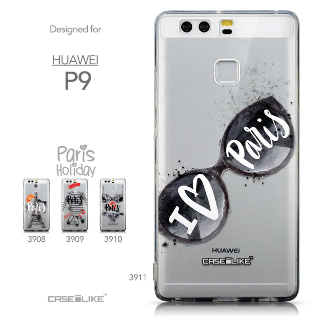 Collection - CASEiLIKE Huawei P9 back cover Paris Holiday 3911