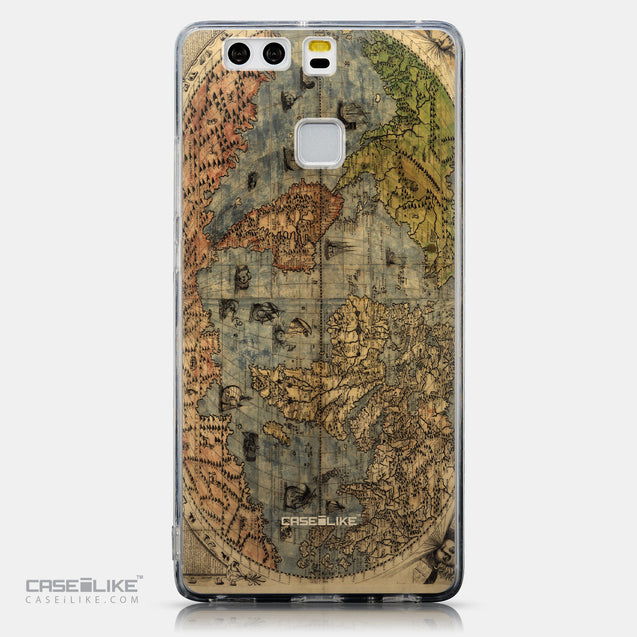 CASEiLIKE Huawei P9 back cover World Map Vintage 4608
