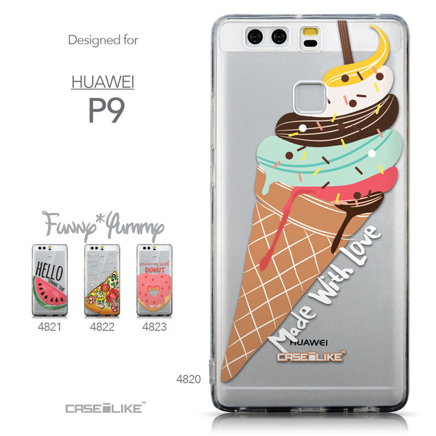 Collection - CASEiLIKE Huawei P9 back cover Ice Cream 4820