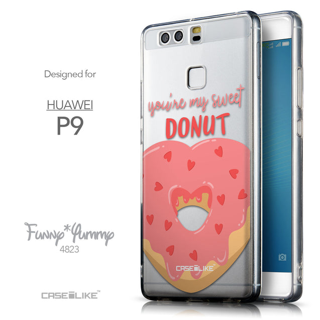 Front & Side View - CASEiLIKE Huawei P9 back cover Dounuts 4823
