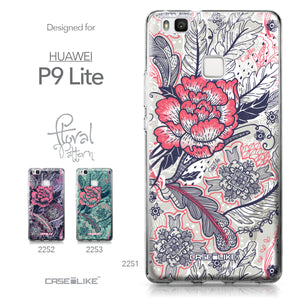 Huawei P9 Lite case Vintage Roses and Feathers Beige 2251 Collection | CASEiLIKE.com