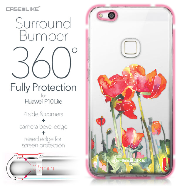 Huawei P10 Lite case Watercolor Floral 2230 Bumper Case Protection | CASEiLIKE.com