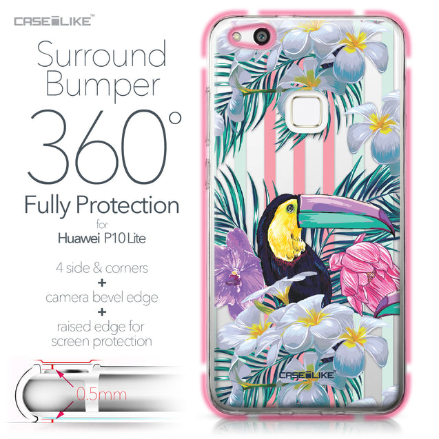 Huawei P10 Lite case Tropical Floral 2240 Bumper Case Protection | CASEiLIKE.com