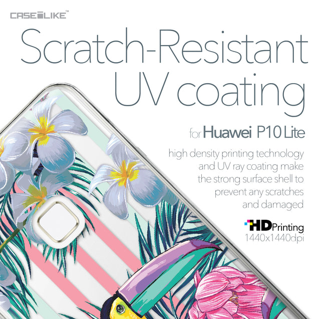 Huawei P10 Lite case Tropical Floral 2240 with UV-Coating Scratch-Resistant Case | CASEiLIKE.com