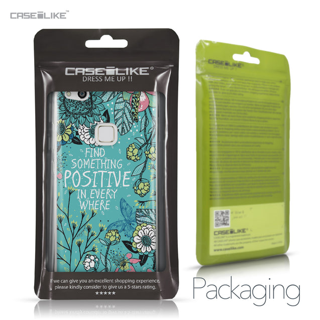 Huawei P10 Lite case Blooming Flowers Turquoise 2249 Retail Packaging | CASEiLIKE.com