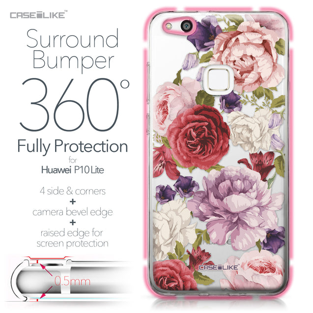 Huawei P10 Lite case Mixed Roses 2259 Bumper Case Protection | CASEiLIKE.com