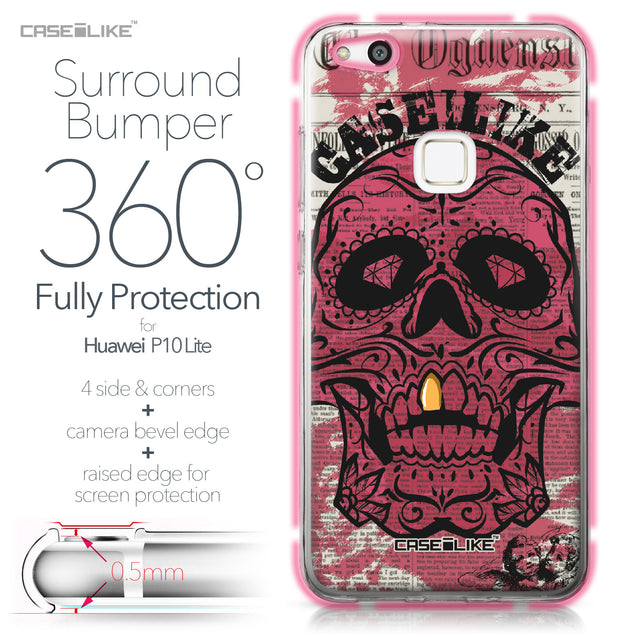 Huawei P10 Lite case Art of Skull 2523 Bumper Case Protection | CASEiLIKE.com