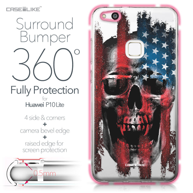 Huawei P10 Lite case Art of Skull 2532 Bumper Case Protection | CASEiLIKE.com