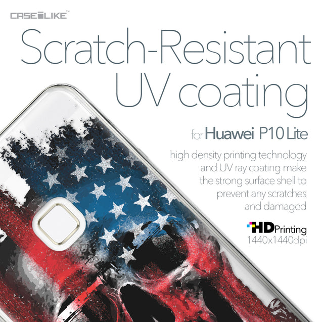 Huawei P10 Lite case Art of Skull 2532 with UV-Coating Scratch-Resistant Case | CASEiLIKE.com
