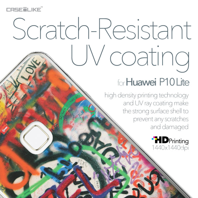 Huawei P10 Lite case Graffiti 2721 with UV-Coating Scratch-Resistant Case | CASEiLIKE.com