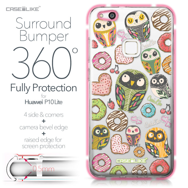 Huawei P10 Lite case Owl Graphic Design 3315 Bumper Case Protection | CASEiLIKE.com