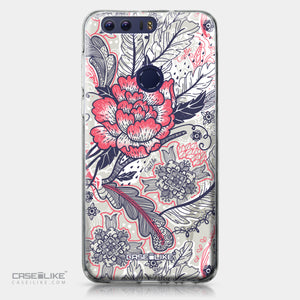 Huawei Honor 8 case Vintage Roses and Feathers Beige 2251 | CASEiLIKE.com