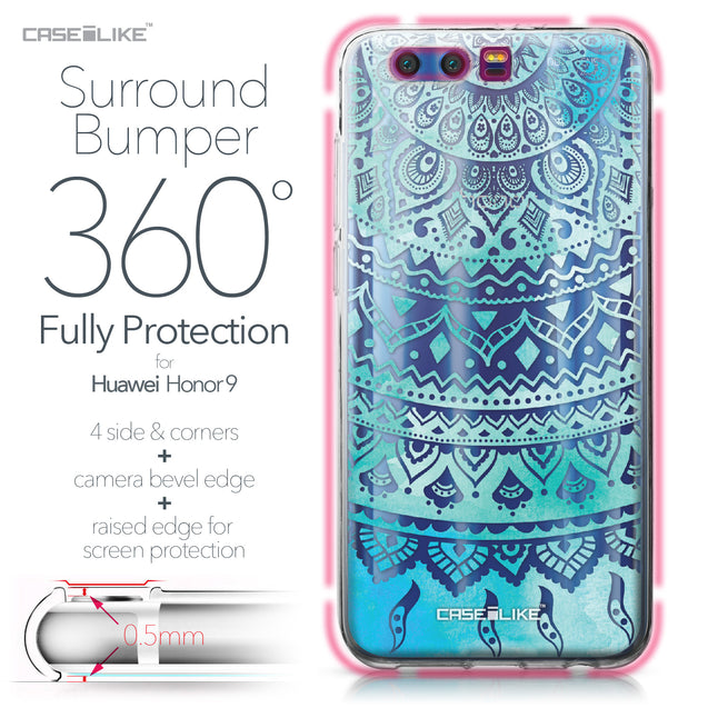 Huawei Honor 9 case Indian Line Art 2066 Bumper Case Protection | CASEiLIKE.com