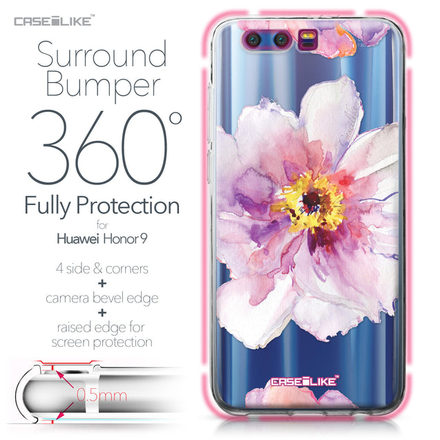 Huawei Honor 9 case Watercolor Floral 2231 Bumper Case Protection | CASEiLIKE.com