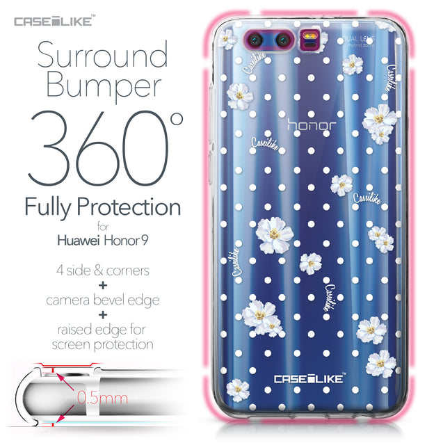 Huawei Honor 9 case Watercolor Floral 2235 Bumper Case Protection | CASEiLIKE.com