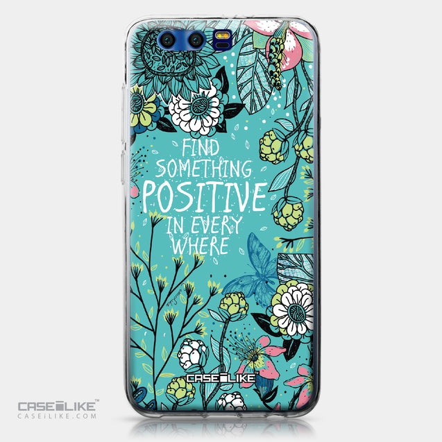 Huawei Honor 9 case Blooming Flowers Turquoise 2249 | CASEiLIKE.com
