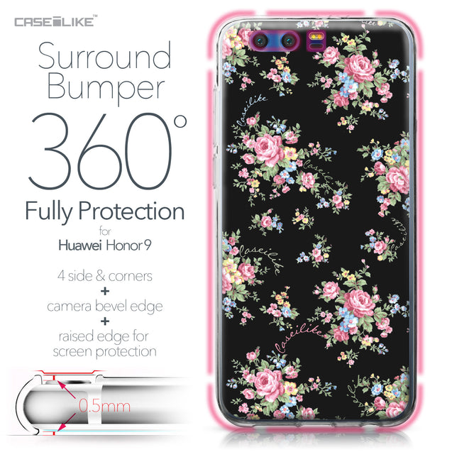 Huawei Honor 9 case Floral Rose Classic 2261 Bumper Case Protection | CASEiLIKE.com