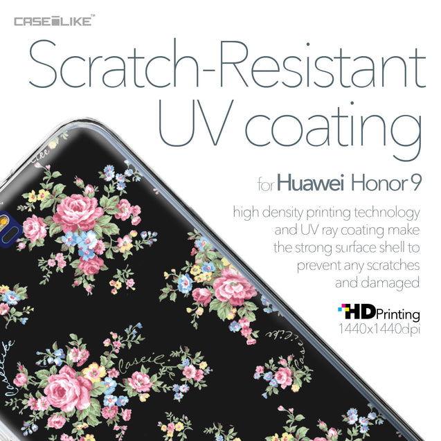Huawei Honor 9 case Floral Rose Classic 2261 with UV-Coating Scratch-Resistant Case | CASEiLIKE.com
