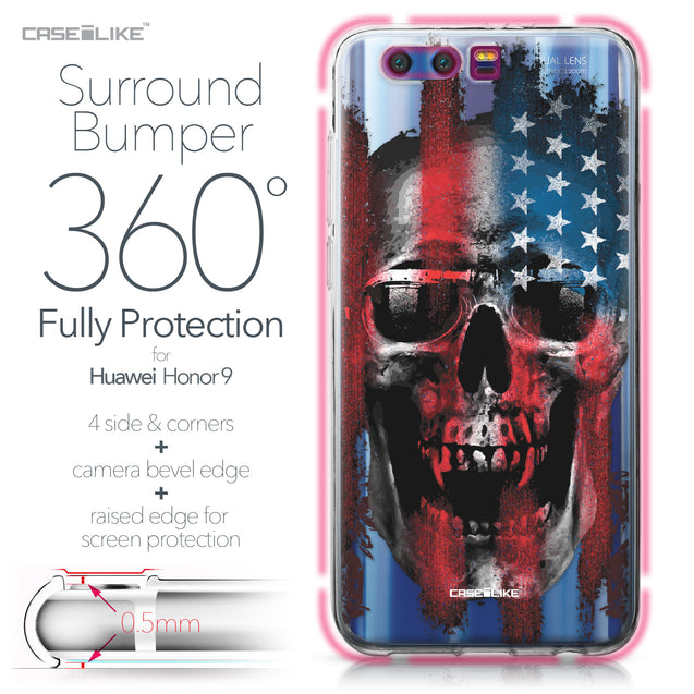 Huawei Honor 9 case Art of Skull 2532 Bumper Case Protection | CASEiLIKE.com