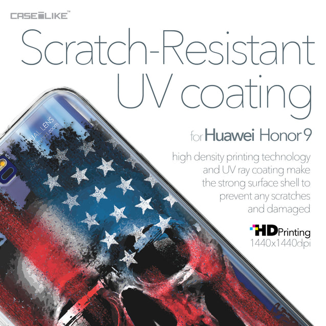 Huawei Honor 9 case Art of Skull 2532 with UV-Coating Scratch-Resistant Case | CASEiLIKE.com