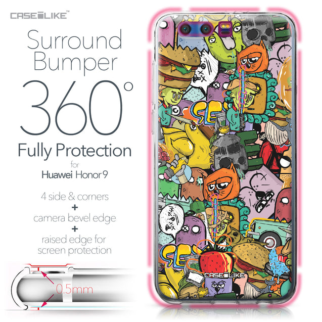 Huawei Honor 9 case Graffiti 2731 Bumper Case Protection | CASEiLIKE.com