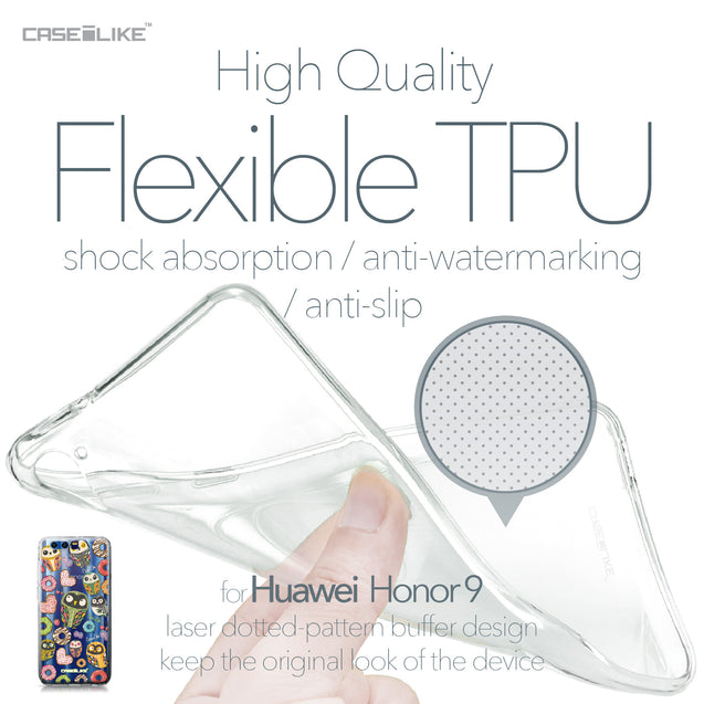 Huawei Honor 9 case Owl Graphic Design 3315 Soft Gel Silicone Case | CASEiLIKE.com