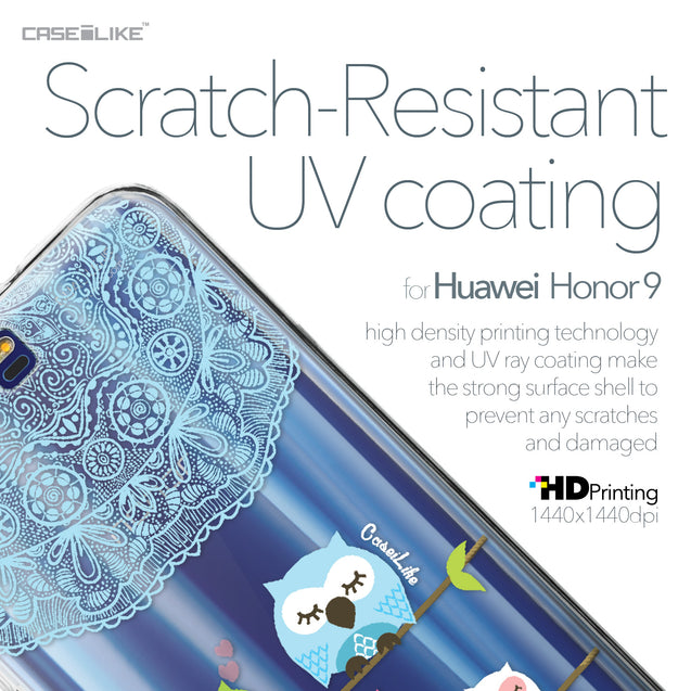 Huawei Honor 9 case Owl Graphic Design 3318 with UV-Coating Scratch-Resistant Case | CASEiLIKE.com