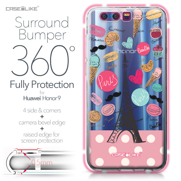 Huawei Honor 9 case Paris Holiday 3904 Bumper Case Protection | CASEiLIKE.com