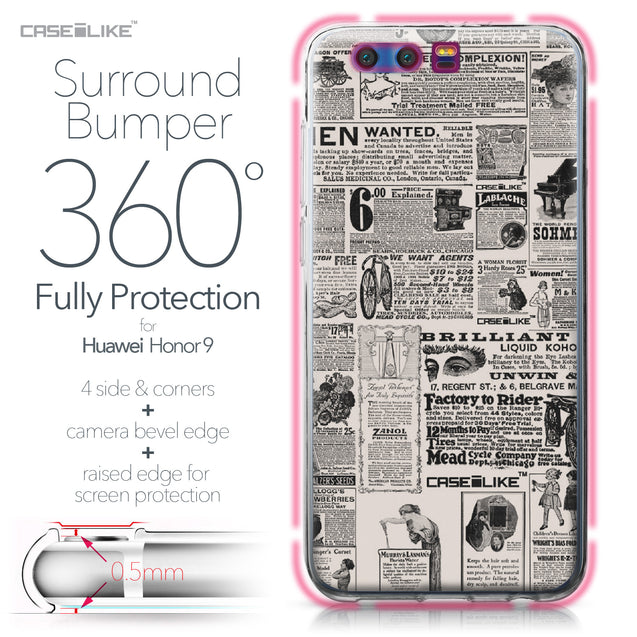 Huawei Honor 9 case Vintage Newspaper Advertising 4818 Bumper Case Protection | CASEiLIKE.com