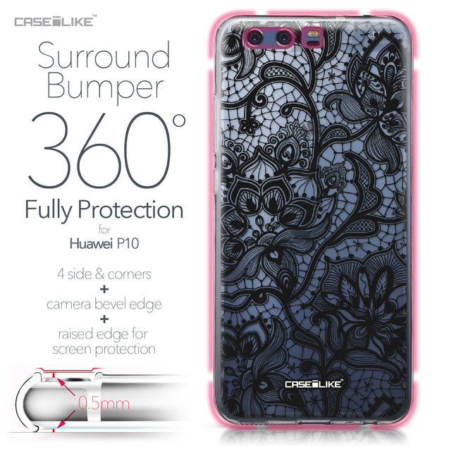 Huawei P10 case Lace 2037 Bumper Case Protection | CASEiLIKE.com