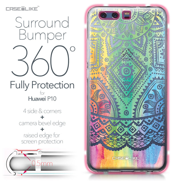 Huawei P10 case Indian Line Art 2064 Bumper Case Protection | CASEiLIKE.com
