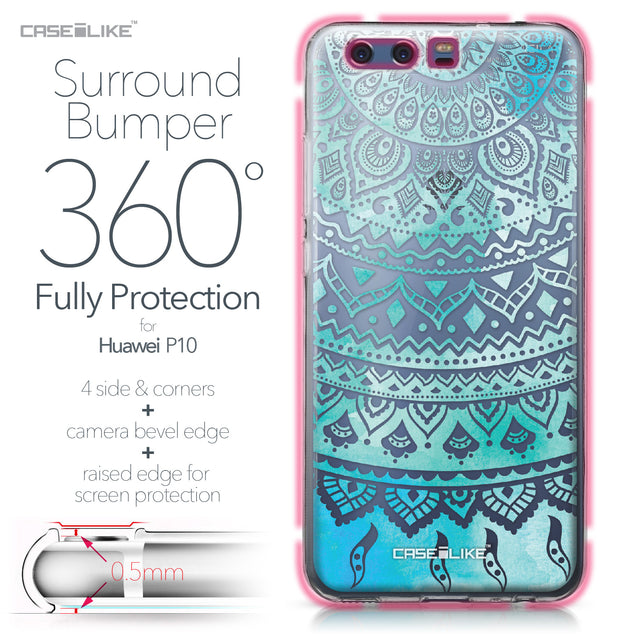 Huawei P10 case Indian Line Art 2066 Bumper Case Protection | CASEiLIKE.com