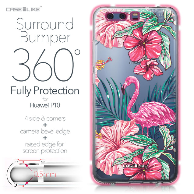 Huawei P10 case Tropical Flamingo 2239 Bumper Case Protection | CASEiLIKE.com