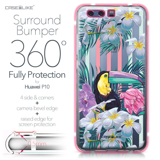 Huawei P10 case Tropical Floral 2240 Bumper Case Protection | CASEiLIKE.com